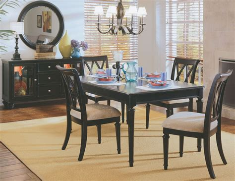 leg room camden black leg dining room set from american drew 919 760n coleman furniture