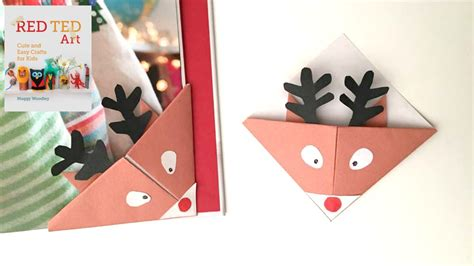 christmas crafts easy reindeer bookmarks for christmas youtube