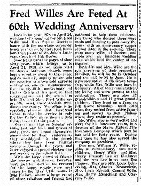 Dupage County Marriage Records I Stalk Dead Happy Belated 135th Wedding Anniversary