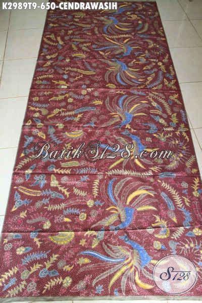 Kain Tulis Warna batik kain halus warna merah motif cendrawasih adem proses