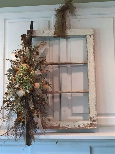 thrifty decorating old windows as wall decor old window frame salvage farmhouse style window white