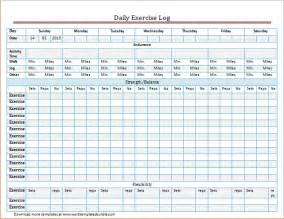 exercise log template exercise and meal log template for word excel formal