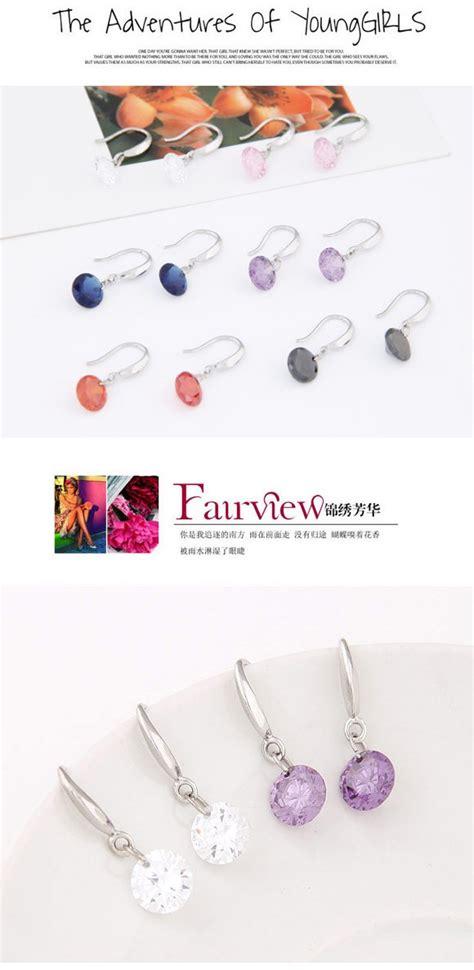 Cincin Korea Decorated Simple Design 1 lilac orange decorated simple design cuprum korean earrings asujewelry