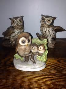 home interior collectibles 3 vintage homco home interior owls owl retired ebay