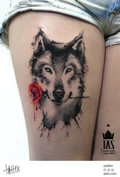 wolf with rose tattoo 57 best wolf tattoos pictures and ideas
