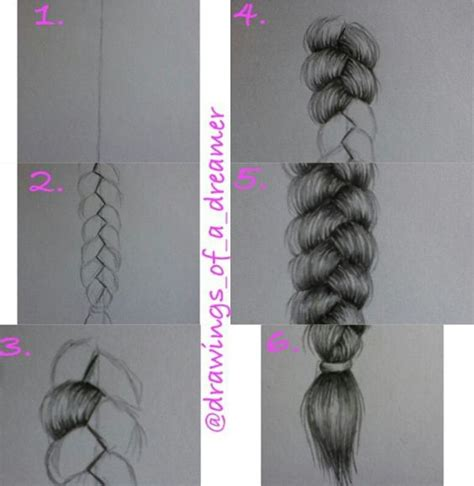 different braid step by step how to draw a braid step by step drawings tumblr