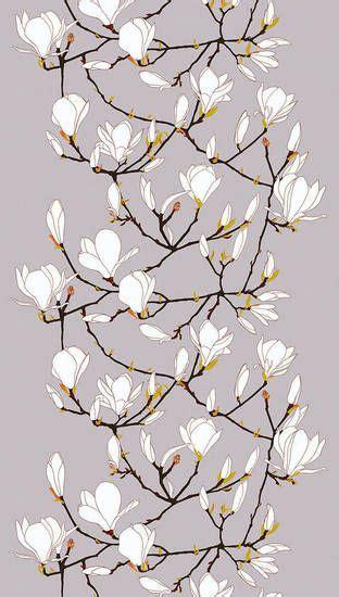 printable magnolia flowers keisarinna fabric with magnolia blossom print by marimekko