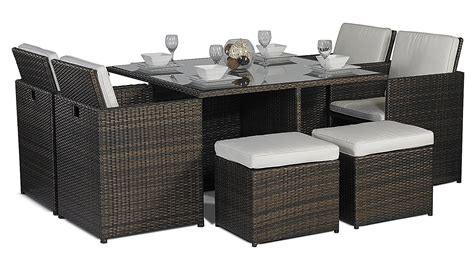 garden table and chairs set homebase rattan cube garden furniture 4 seater fasci garden
