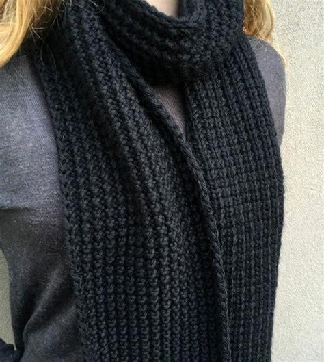 Knitting Pattern Broken Rib Scarf   broken rib unisex knit scarf pattern allfreeknitting com