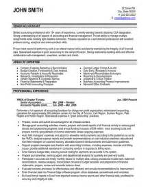 accountant resume templates senior accountant resume template premium resume sles