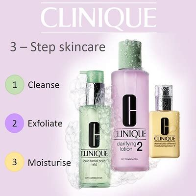 Clinique 3 Step qoo10 clinique 3 step skincare cleanse exfoliate