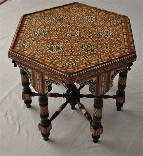 Middle Eastern Coffee Table Middle Eastern Moroccan Mother Of Pearl Inlay Wood Coffee