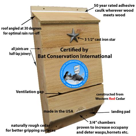 Bat Conservation International Bat House Plans About Our Bat Houses