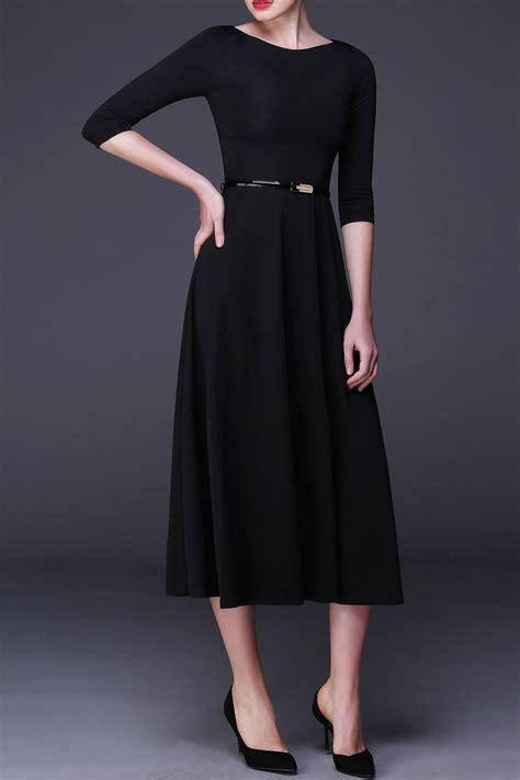 Sleeve A Line Dress black a line dress with sleeves www pixshark