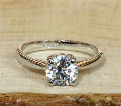 Handmade Rings For Sale - on sale 18ct white gold filled solitaire 1 1ct