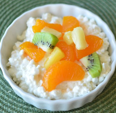fruit and cottage cheese high protein snack healthy ideas for