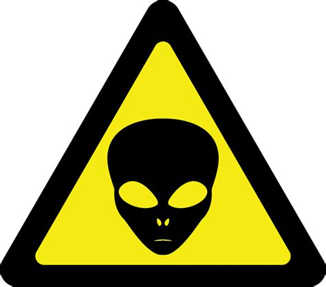 alien warning sign removable wall stickers  wall decals