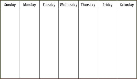 calendar template week week schedule template weekly schedule template pdf jpg