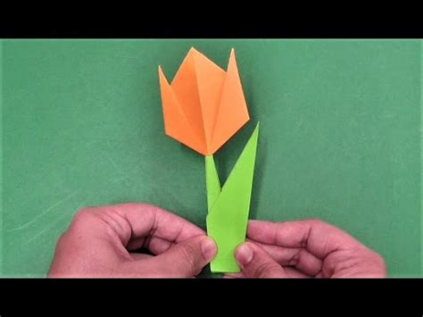 How To Make A Simple Flower Out Of Paper - how to make simple easy paper tulip flower diy paper