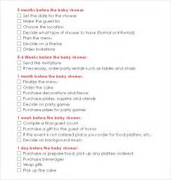 baby shower checklist template baby shower checklist 6 free for pdf excel