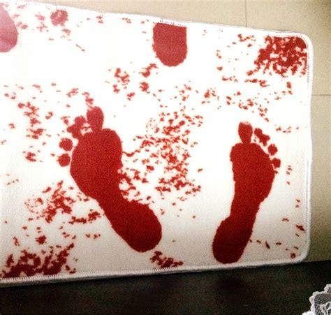 home garden blood bath mat horror rectangle