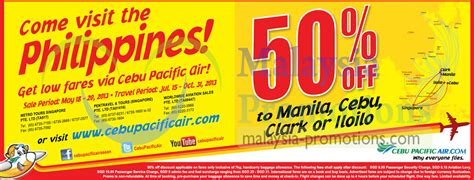 seat your heart out cebu pacific promo fare for as low as php 199 cebu pacific air 50 off seat sale 18 20 may 2013