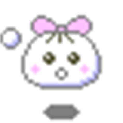 Kaos Ribbon Mouse kawaii knot in hair 175 176 japanese kaos smiley emoticon smilchat anime blobs anikaos puffs