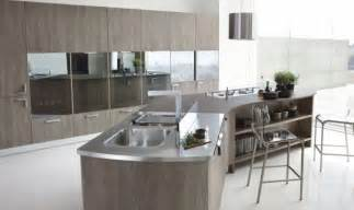 Contemporary Kitchen Island Designs - contemporary curved island kitchen islands peninsulas pinterest