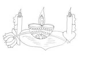 diwali clay lamps coloring sheet coloring pages