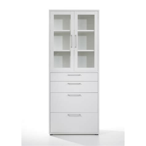 White Storage Cabinet With Glass Doors Furniture Glass Door Small And Lockable Book Cabinet With Two Shelf With Glass Doors For