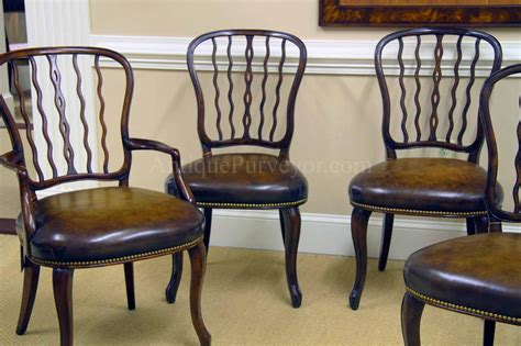 antique mahogany dining room furniture antique mahogany shield back dining room chairs with leather