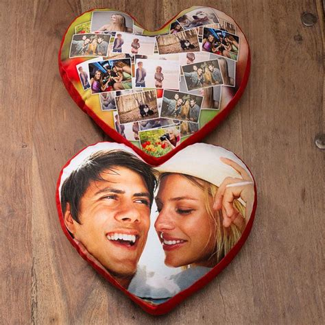 cuscino con foto cuscino cuore personalizzato con foto nome dedica