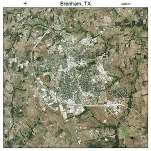 aerial photography map of brenham tx