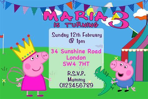 Peppa Pig Birthday Invitation Template Peppa Pig Peppa Pig Invitation Template