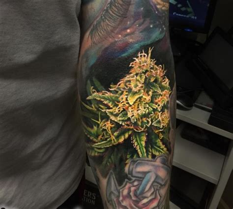 weed plant tattoo 60 designs legalized ideas in 2018