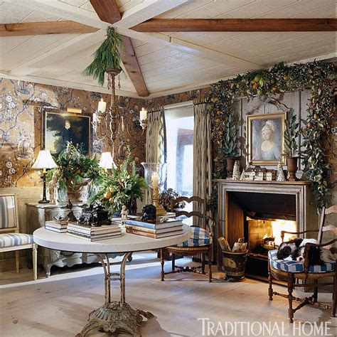 traditional christmas decorating ideas home ifresh design charles faudree s country cabin traditional home