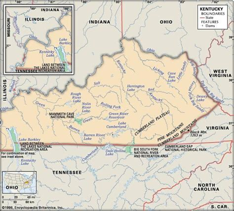 ky geography map kentucky history geography state united states