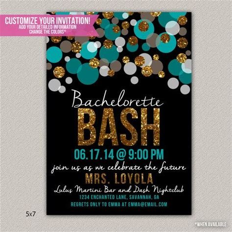 bachelorette bash bachelorette invitation custom bridal showe