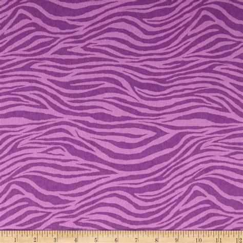 zebra pattern material flannel zebra purple discount designer fabric fabric com