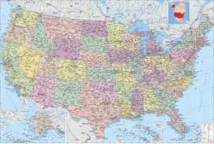 美国地图 中文版 map of usa高清大图