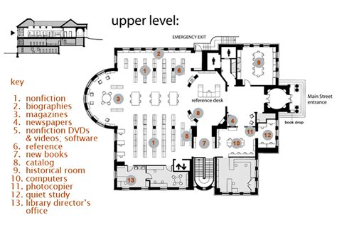 floor plan of a library floor plan groton library