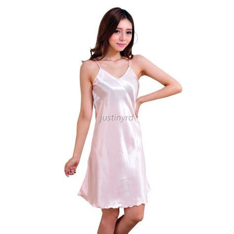 piyama satin pajamas baby doll sleepwear baju tidur dt limited womens silk lace robe nightgown