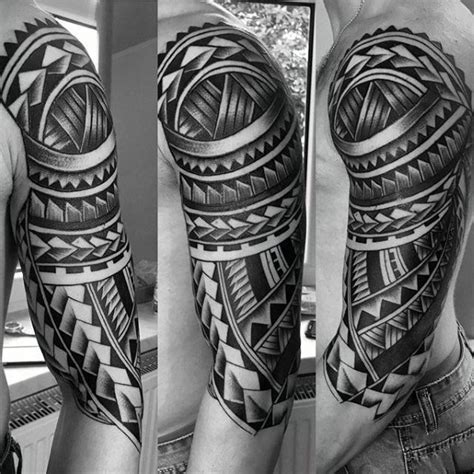 tribal half sleeve tattoo designs for men 50 polynesian half sleeve designs for tribal