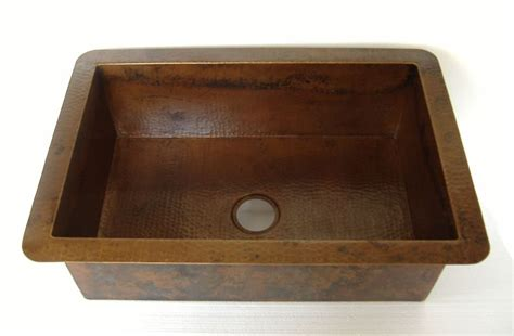 undermount copper kitchen sinks drop in copper kitchen