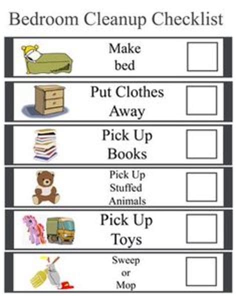 kids bedroom cleaning checklist 1000 images about kids on pinterest chore charts