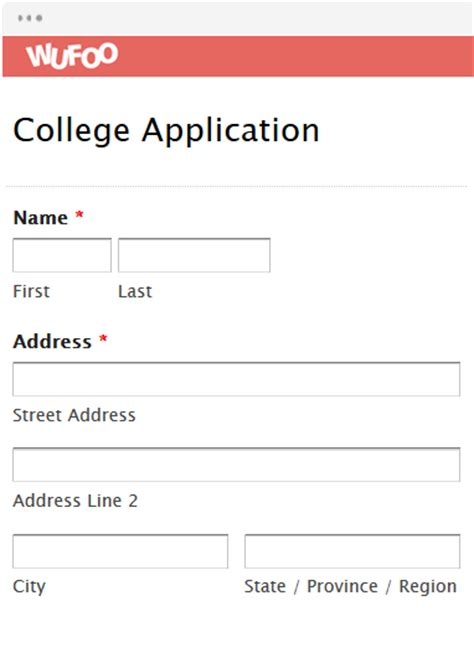 free form templates html college application report writing form