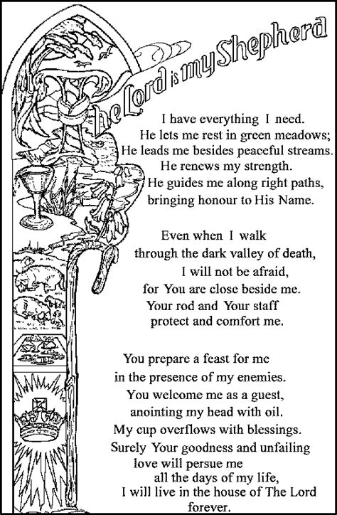 pin psalm 23 colouring pages on pinterest