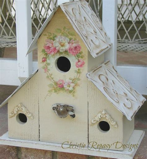 1000 images about shabby chic altered bird houses on