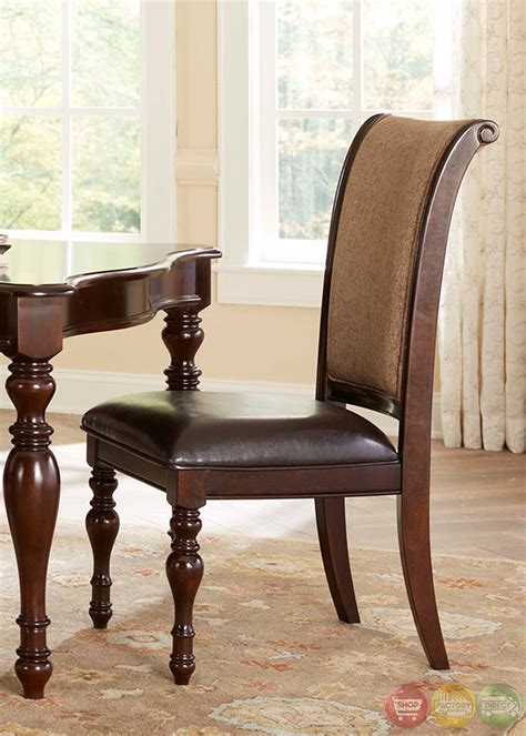liam cherry finish 7 piece space saver dining room set kingston plantation oval table formal dining room set