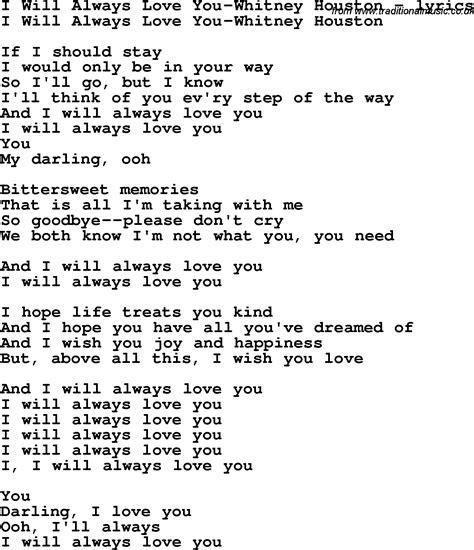 testo one moment in time houston i will always you lyrics i the